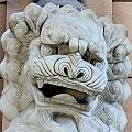 創媒學院的石獅子